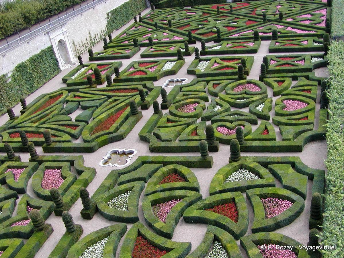 Jardin d\'ornement, les jardins d\'amour, Villandry.