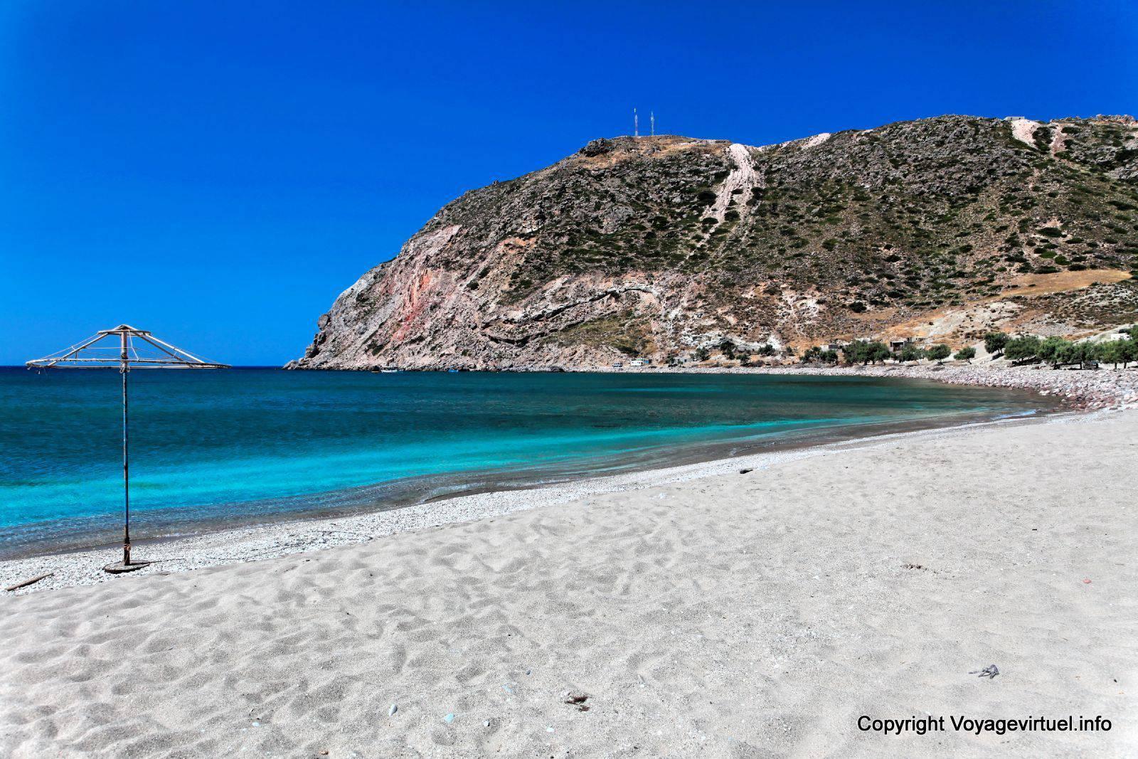 grece plage sable blanc