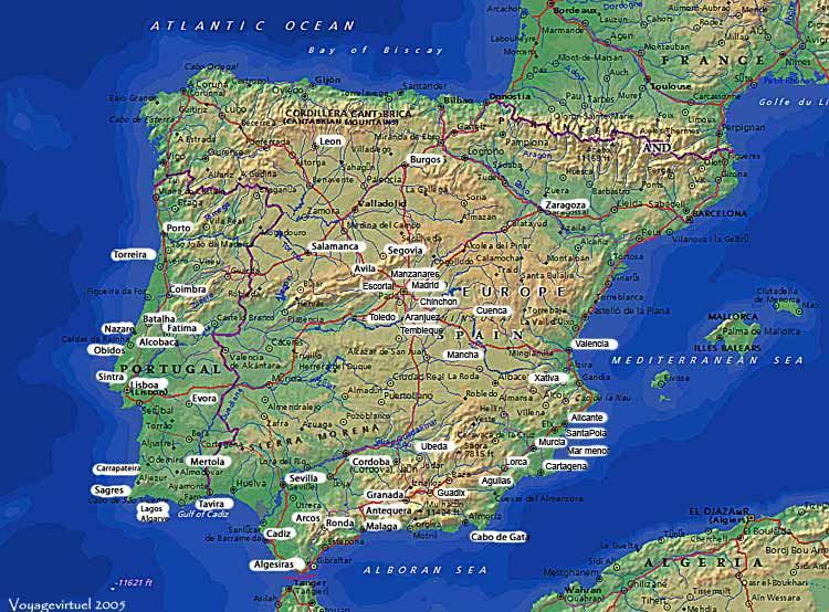 Carte D Espagne Portugal | tonaartsenfotografie