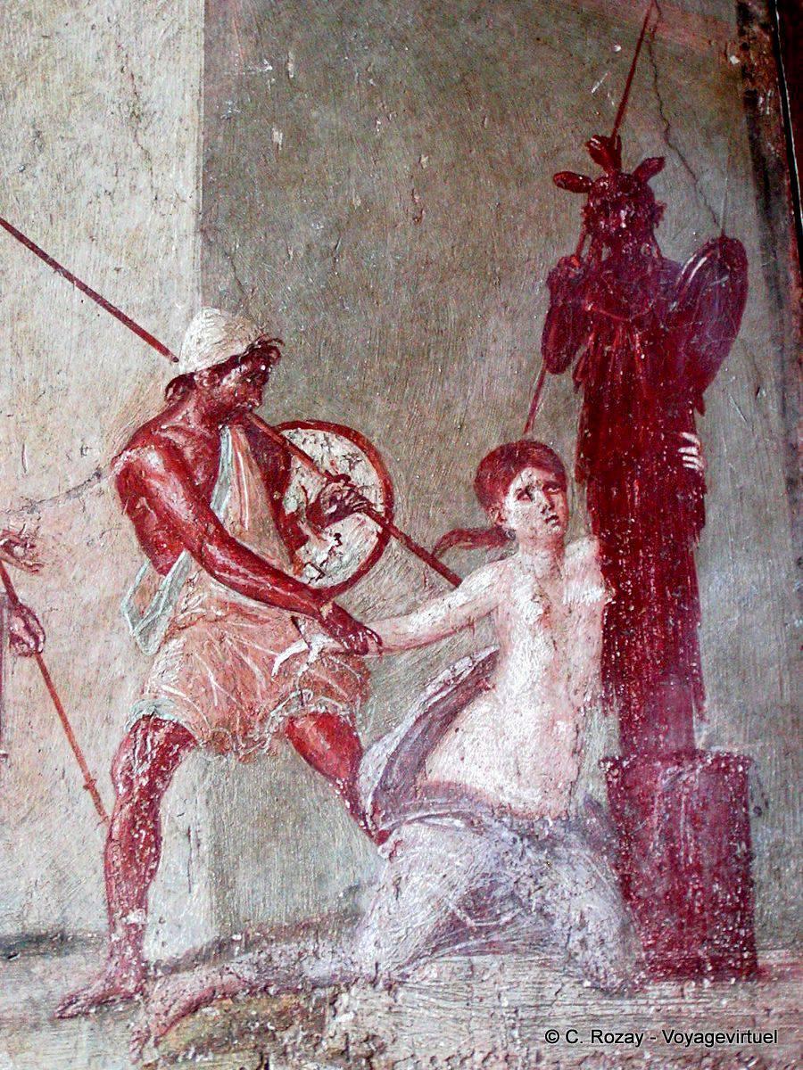 Cassandre Trainée Par Ajax Peinture Murale Pompéi Italie