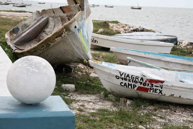 Campeche Port De Peche Barque Bien Nommee 5