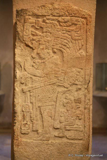 Campeche Museo Archeologia Maya Stele 9