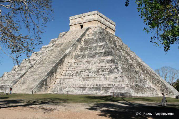Chichen Itza Castillo Pyramide Kukulkan Autre Vue 16