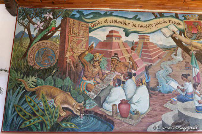 Comitan Chiapas Casa De La Cultura Peinture 7