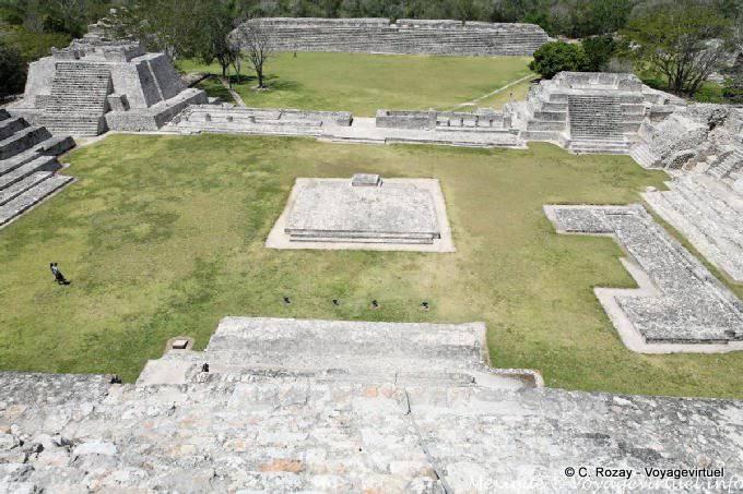 Edzna Casa De Los Itzaes Temple Southeast Northeast