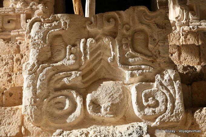 Ek Balam Jaguar Altar Entree Porte Droite 6