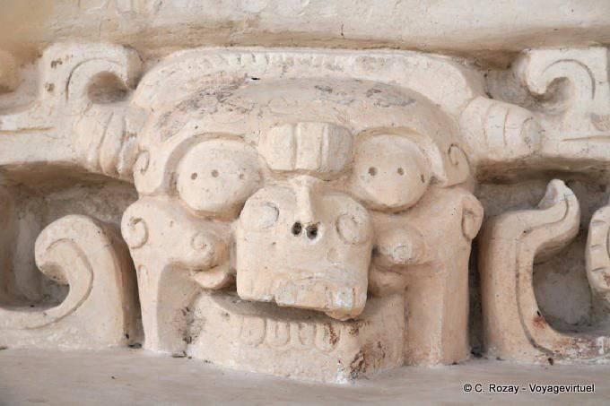 Ek Balam Jaguar Altar Skull Sculpture 17