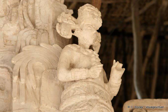 Ek Balam Jaguar Altar Statue Of Angel 21