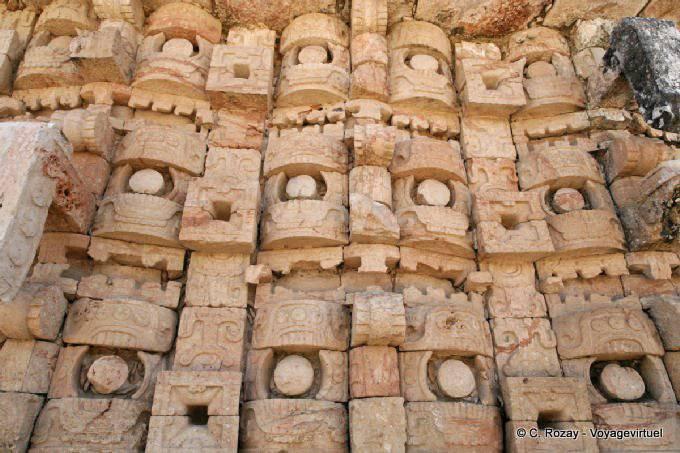 Kabah Palace Of The Masks Detail Chaac 13