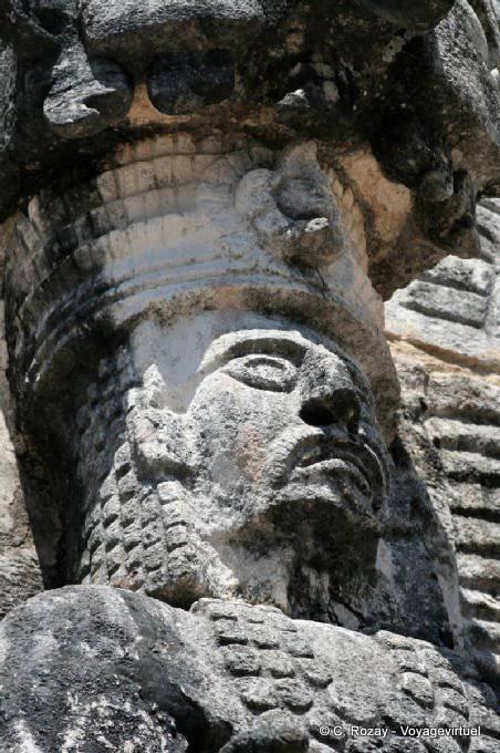 Kabah Sculptures With Jaguar 48