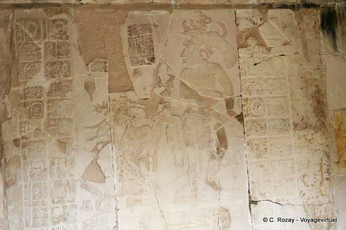Palenque Templo XIV Offrande Bas Relief
