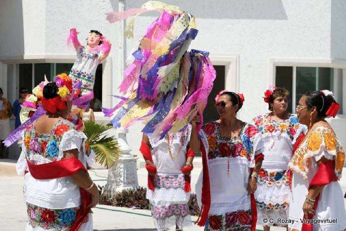 Puerto Morelos Danse Traditionnelle 48