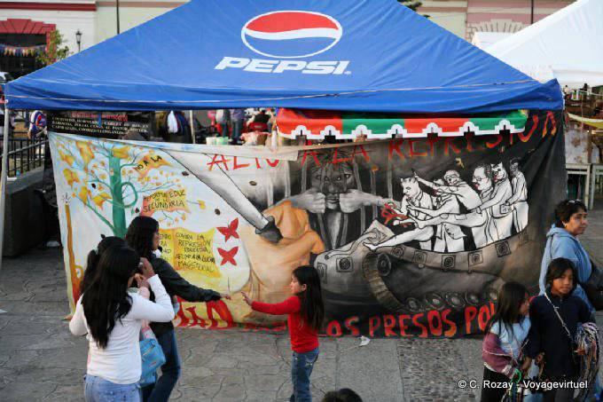 San Cristobal De Las Casas Plaza Catedral Contra Represion 24