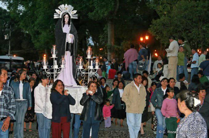 San Cristobal De Las Casas Procession Santa Maria 5