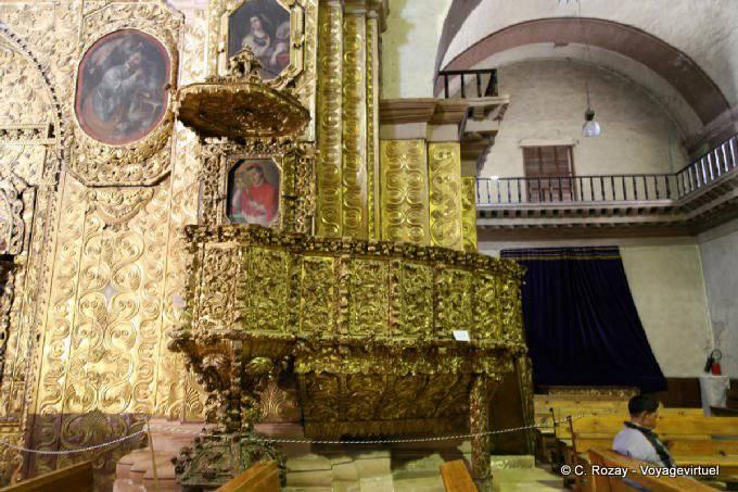 San Cristobal De Las Casas Templo Santo Domingo Chaire Doree 6